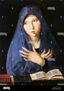 Antonello Da Messina Virgin Annunciate by The