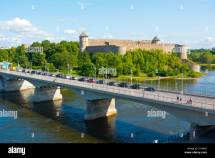 Bridge Narva Estonia And Ivangorod Russia Over