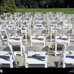 Wedding Wooden Chairs Herman Miller Aeron Chair Repair Manual Bright White Are Lined Up And Awaiting