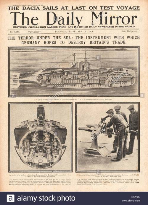 small resolution of 1915 front page daily mirror menace of german u boats