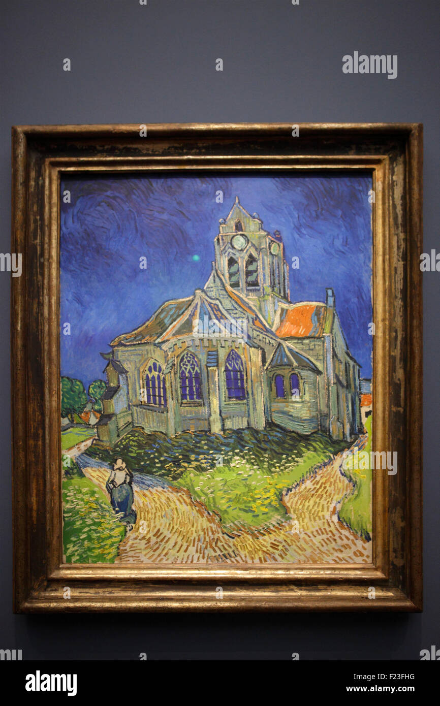 Musee D Orsay Van Gogh : musee, orsay, Church, Auvers, Vincent, Gogh,, Musée, D'Orsay,, Paris, Stock, Photo, Alamy