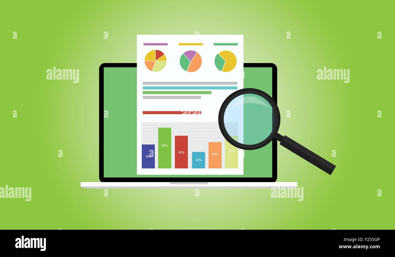 hight resolution of business analyst stock vector
