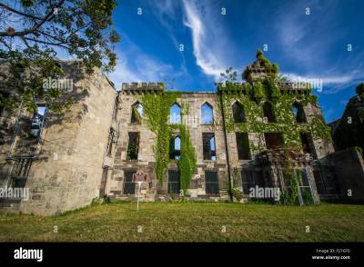 Ruins of the Smallpox Hospital, on Roosevelt Island, in ...