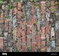 Old brick garden path pattern Stock Photo: 87457620 - Alamy
