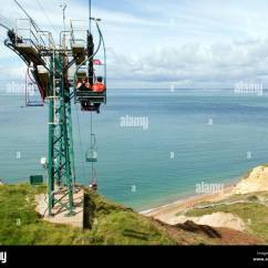 Old People Chair Lift Antique Dining Room Styles A Takes Down To The Sandy Beach Where They Can See Multi Coloured Chalk In Cliff Cable Car Is Many Decades And Remains Very