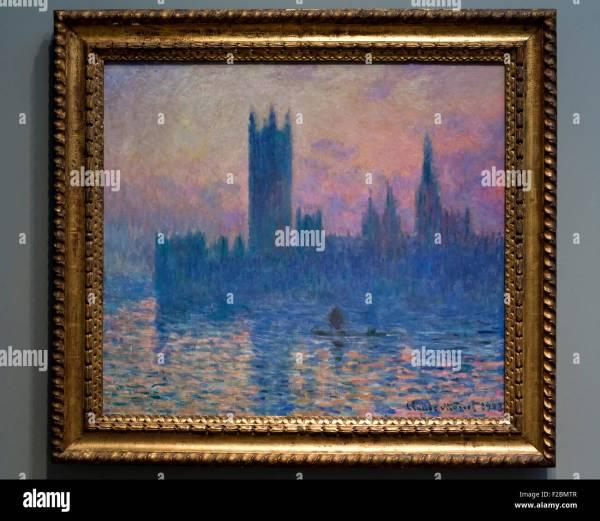 Houses of Parliament Claude Monet Painting