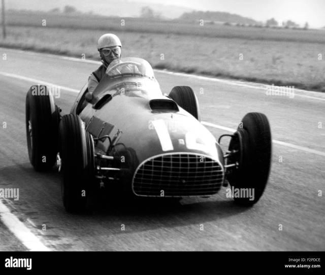 Alberto Ascari Racing In A Ferrari In The French Gp At Reims  Stock Image