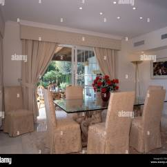 Dining Chair Covers In Spanish Hair Wash Size Damask Loose On Chairs At Glass Topped Table Room