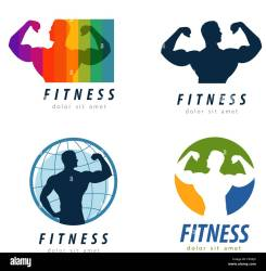gym vector logo design template health or fitness icon Stock Vector Image & Art Alamy