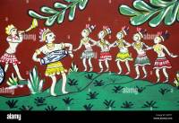 Tribal art ; wall painting ; Orissa ; India Stock Photo ...