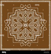 Folk, Tribal Design, Motif, Wall Painting Vector Art Stock ...