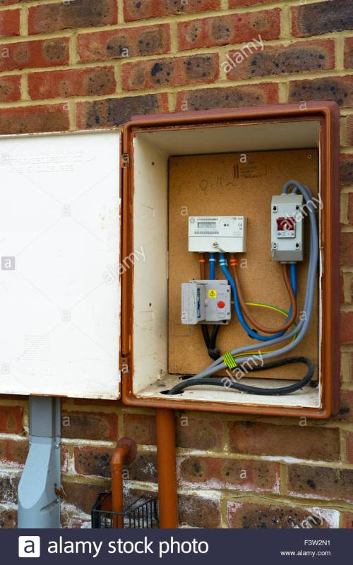 small resolution of external meter box sturminster newton dorset england uk stock image