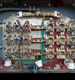 old fuse box stock image [ 1300 x 995 Pixel ]