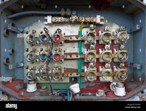 small resolution of old fuse box stock image