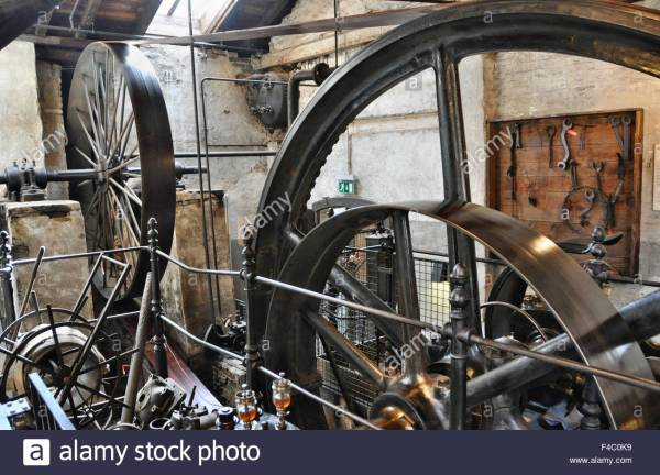 Steam Engine Factory 19th Century Stock 88774429