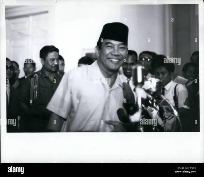 President Sukarno At Istana Palace Djakarta Indonesia Oct 14 1965 Stock Photo Alamy