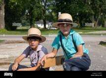 Young Amish Boys Stock &