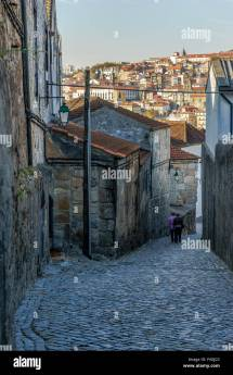 Stone Alley In Port Wine District Of Gaia