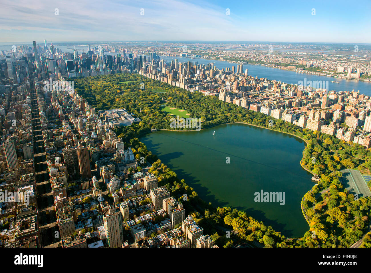 Upstate New York Fall Hd Wallpaper Aerial Shot Of Manhattan And Central Park From East Harlem