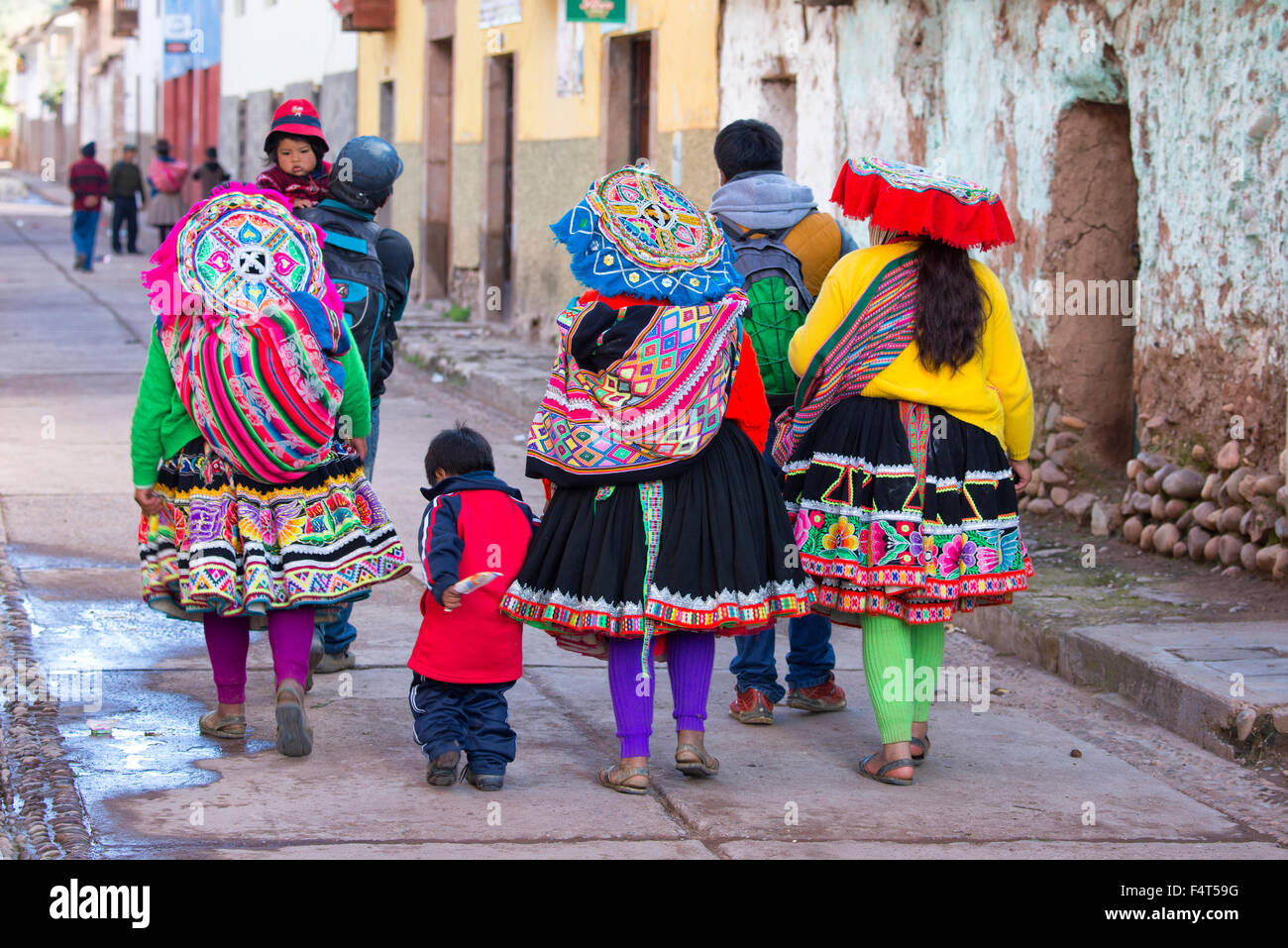South America Latin America Peru Cuzco Native Village