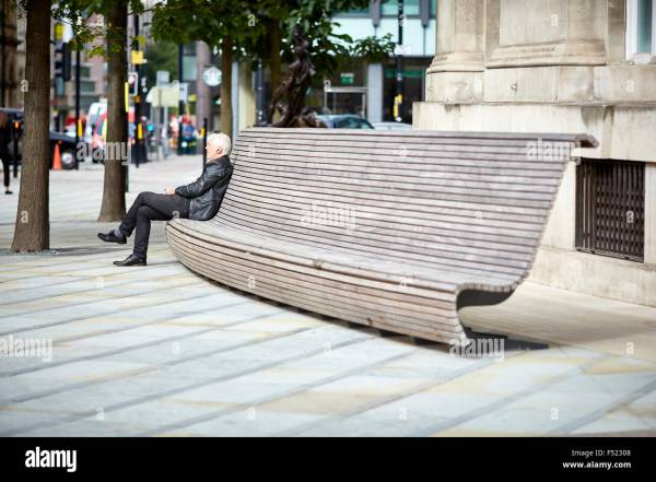 Modern Public Seating Benches Manchester Central