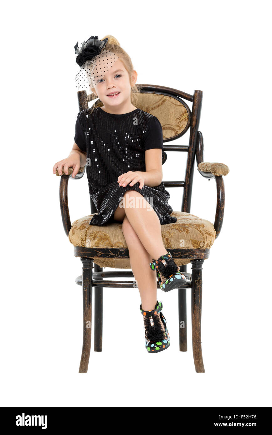 little girl chairs pottery barn kid chair sitting in antique on white background stock