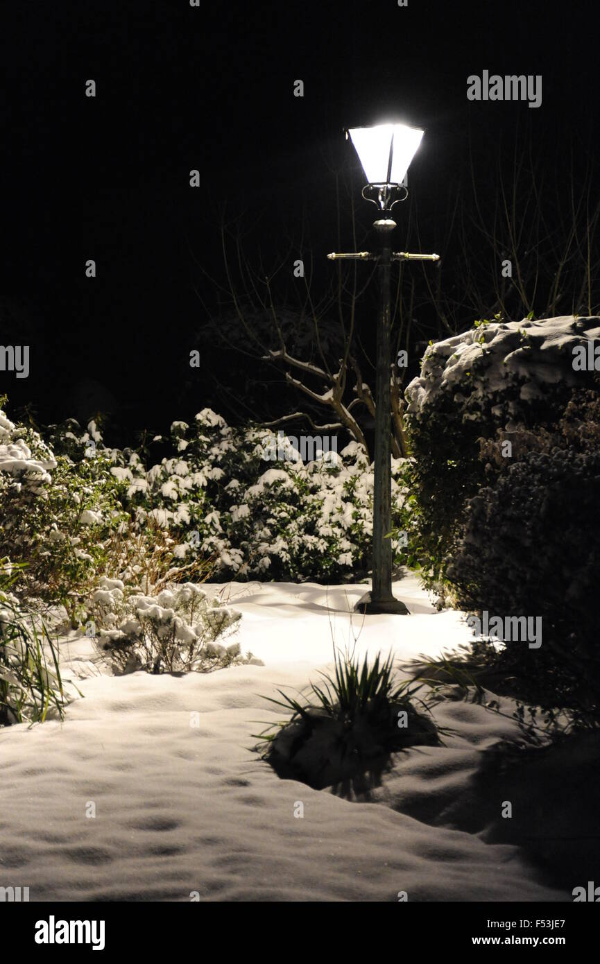 Christmas Lamp Post Snow Stock Photos & Christmas Lamp