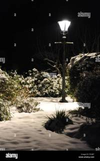 Christmas Lamp Post Snow Stock Photos & Christmas Lamp