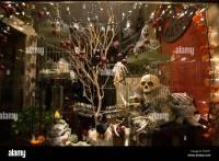 Halloween decoration store window Stock Photo, Royalty ...
