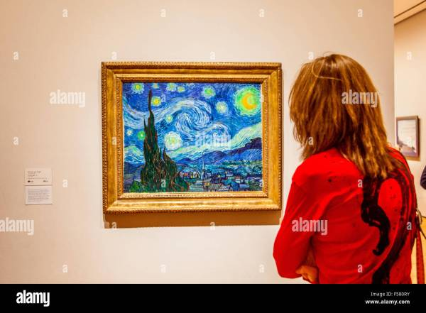 Starry Night Painted Vincent Van Gogh 1889 Moma