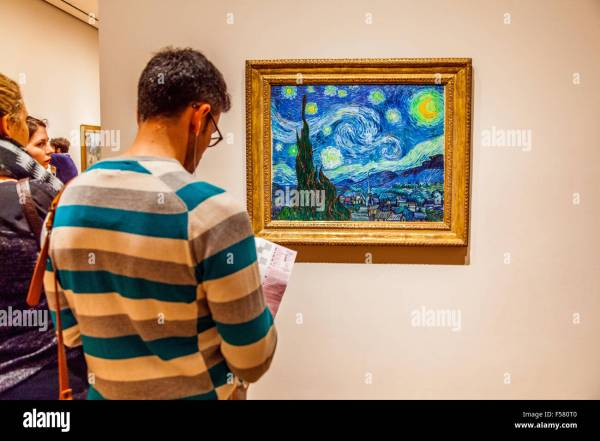 Starry Night Painted Vincent Van Gogh 1889 Moma Museum Stock 89301408 - Alamy
