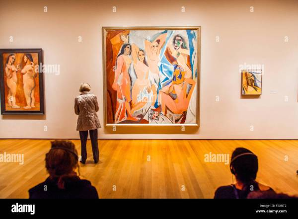 "Pablo Picasso Painting ""les Demoiselles 'avignon"" Museum Of Stock Royalty Free"