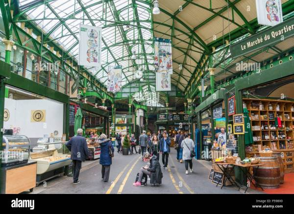 Stalls Borough Market High Street London England Uk Gb Eu Stock Royalty Free