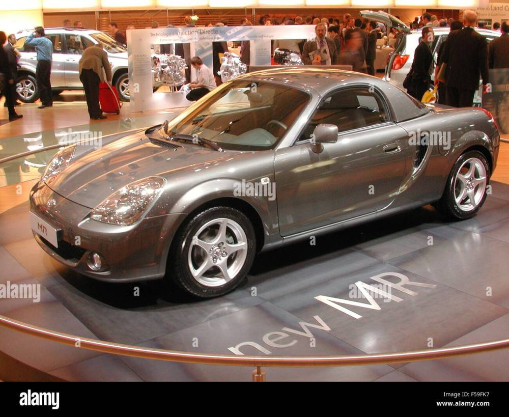 medium resolution of toyota mr2 facelift as shown at the paris motorshow 2002 stock image