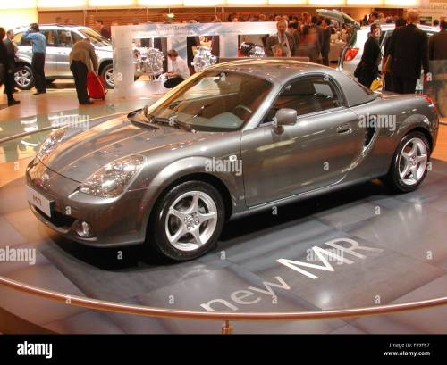 small resolution of toyota mr2 facelift as shown at the paris motorshow 2002 stock image