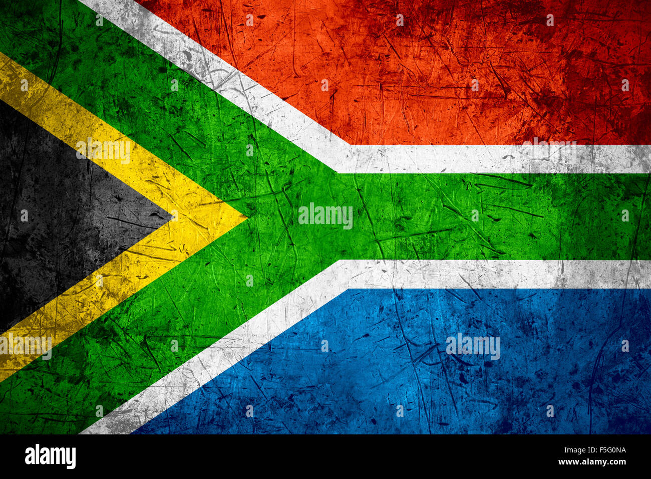 Republic Of South Africa Flag Or South African Banner On