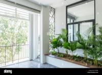 modern contemporary interior design balcony garden plants ...