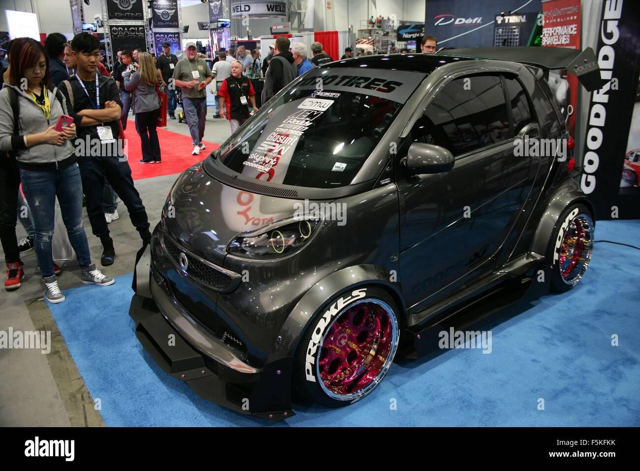 Las Vegas, Nv, Usa 5th Nov, 2015 Custom Smart Car In
