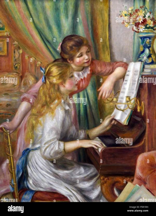 Renoir Girls Stock & - Alamy