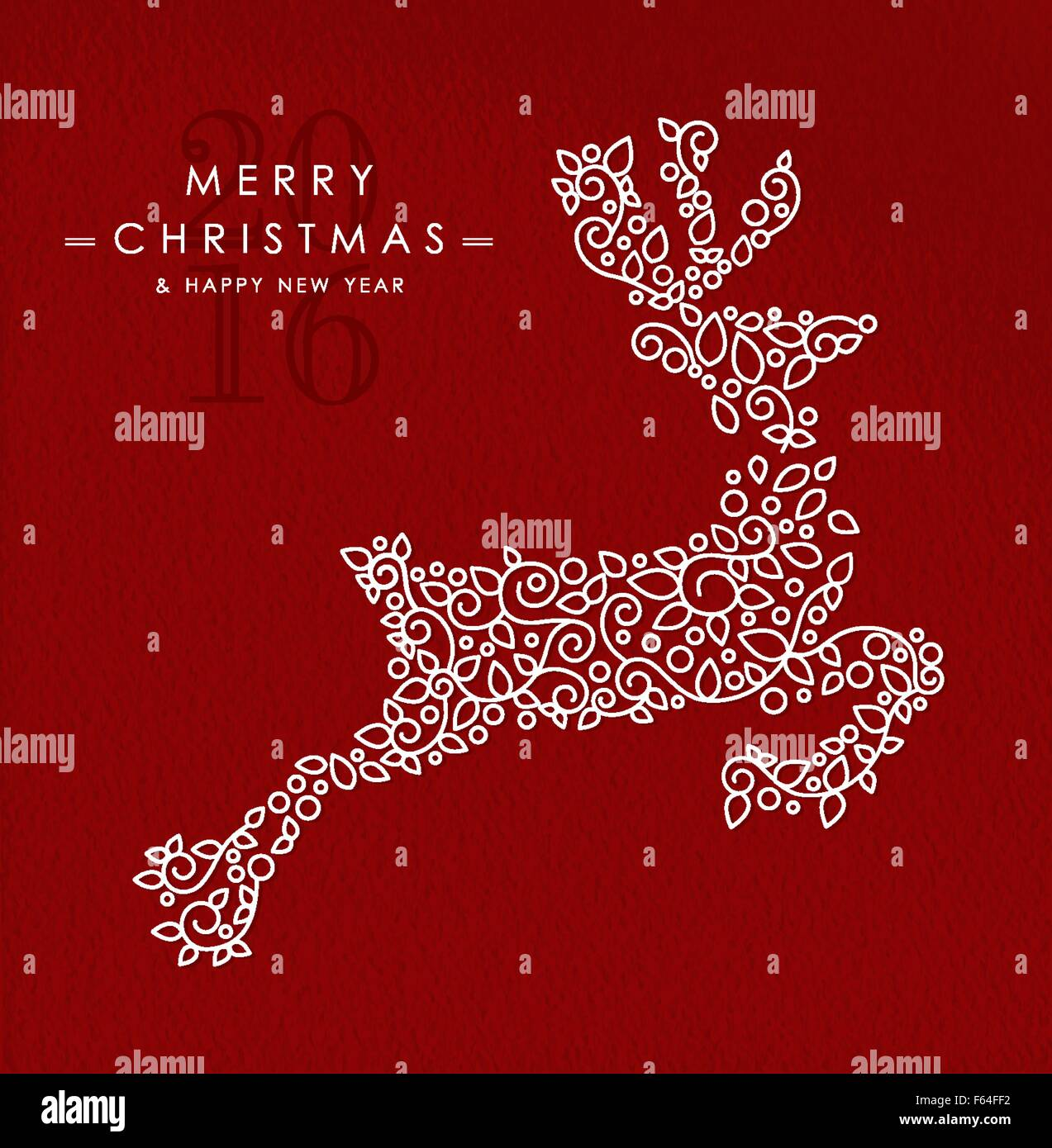 Merry Christmas Happy New Year 2016 Greeting Card
