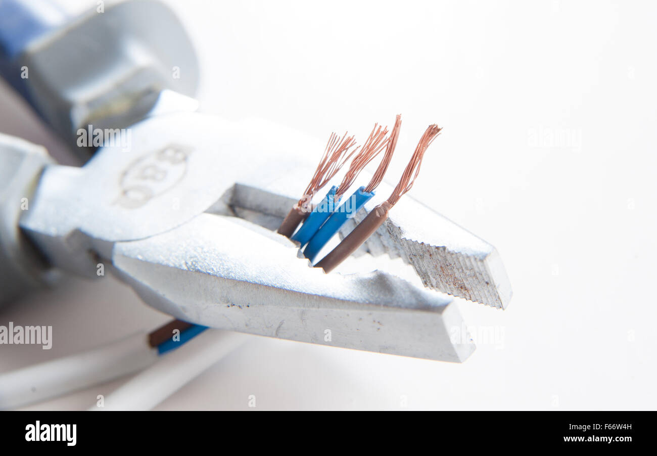 hight resolution of electrical equiptment for the home including pliers and wiring blue neutral and brown live wires diy