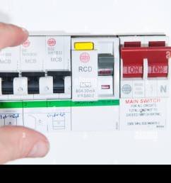 domestic home electrics main fuse box with switch being thrown stock image [ 1300 x 889 Pixel ]