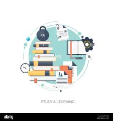 Flat vector illustration Study learning concept background Stock Vector Image & Art Alamy