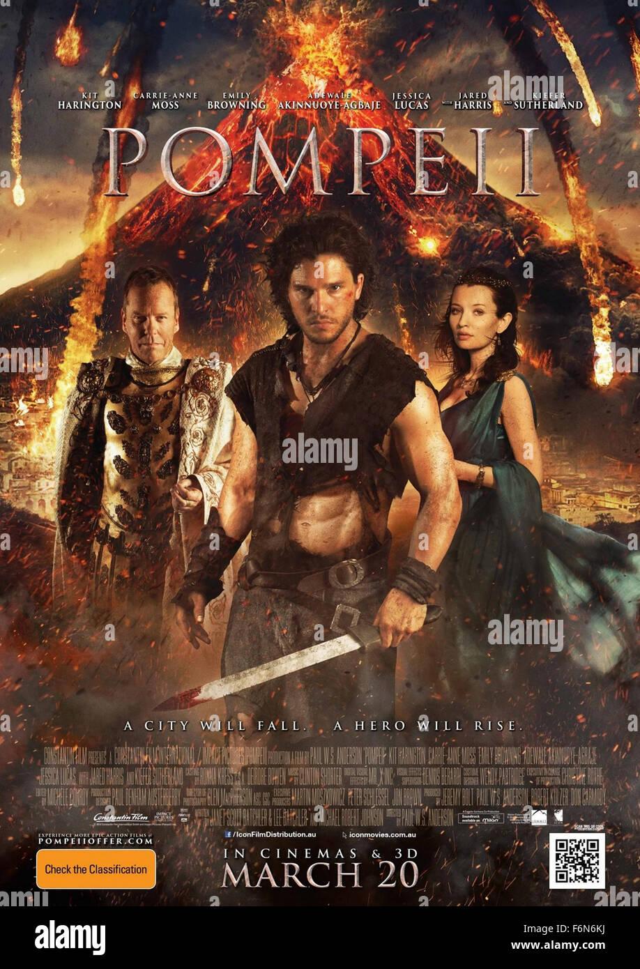 https www alamy com stock photo feb 24 2014 hollywood us pompeii poster 2013keifer sutherlandkit haringtonemily 90206022 html