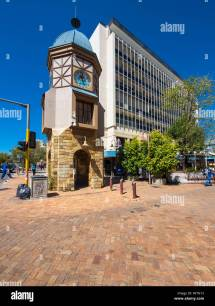 Namibia Windhoek Bell Tower Independence Avenue Stock