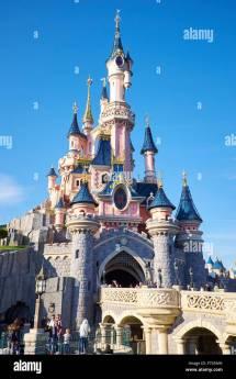 Sleeping Beauty Castle Disneyland Paris Stock