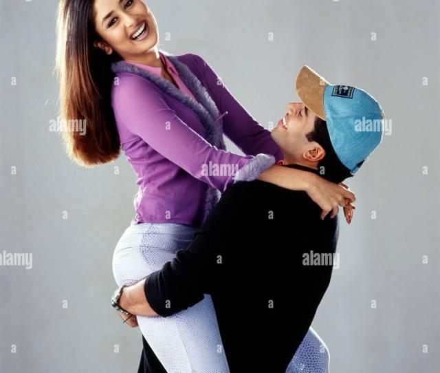 Indian Film Actress And Actor Kareena Kapoor With Tushar Kapoor India Asia 2001