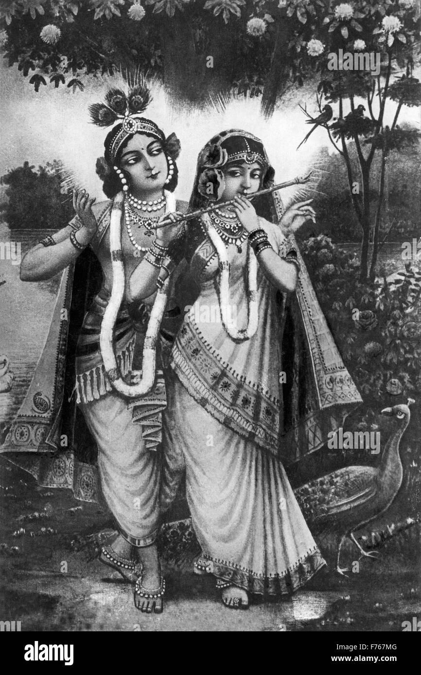 Krishna Photo Black And White : krishna, photo, black, white, Krishna, Black, White, Stock, Photos, Images, Alamy