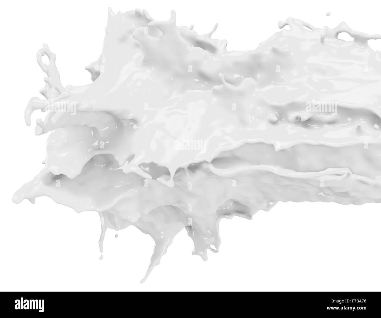 glossy white paint splash