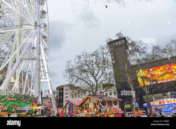 Leicester Square London Uk. 28th November 2015. Christmas Stock Royalty Free